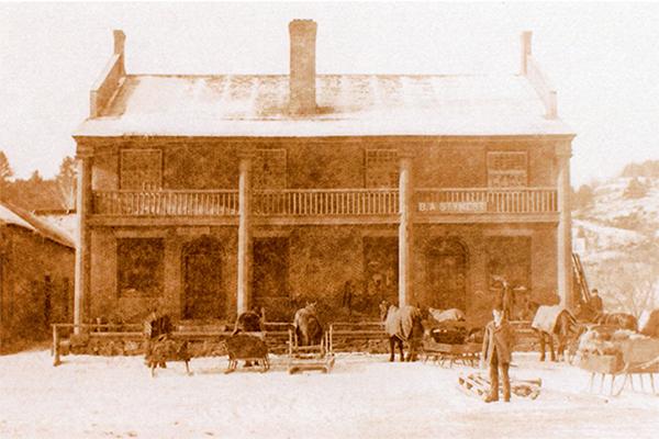 The Bath Brick Store in the 1800s